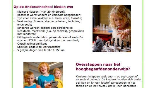 Informatieavond Hoogbegaafdenonderwijs